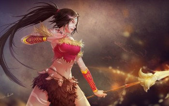 namiko,zxbvincent,league of legends,nidalee,копье