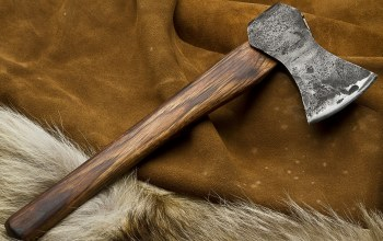 wood,decoration,animal skin,Axe