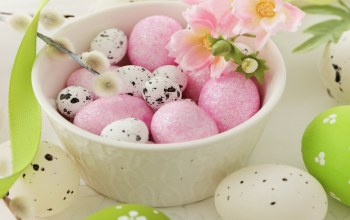 яйца,decoration,happy,spring,Easter,eggs,willow,цветы
