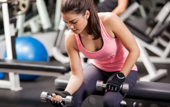 Dumbbell,gym,woman