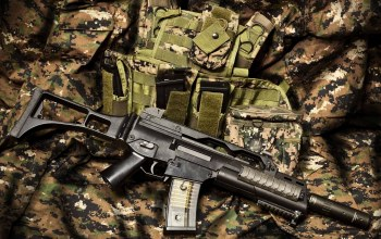 equipment,Automatic rifle,camouflage fabric