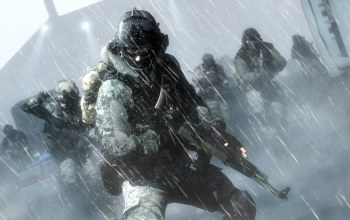 assault rifle,equipment,Battlefield 4,snow,cold,soldier