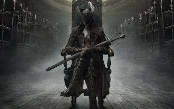 плащ,from software,bloodborne: the old hunters,охотник,Bloodborne