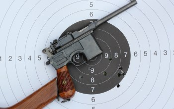 wood,wood,target,performance,Target gun,gun,pistol,red nine,mauser c-96,aim