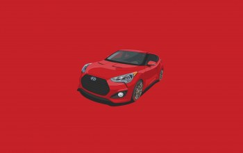 minimalistic,car,Hyundai,Red