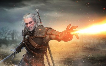 white wolf,rivia,Geralt,witcher,geralt of rivia