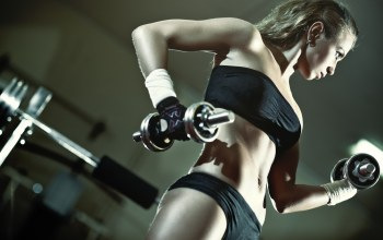 gym,blonde,Dumbbell