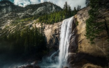 Vernal falls,Yosemite,waterfall