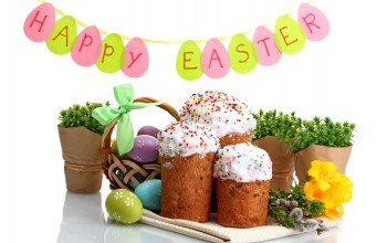 cake,яйца,цветы,holiday,blessed,Easter,eggs,кулич