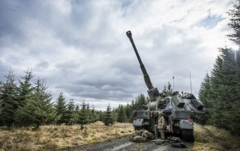 Exercise steel sabre,artillery and air defence