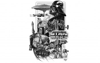 Darth vader,at-at,x-wing,A-wing