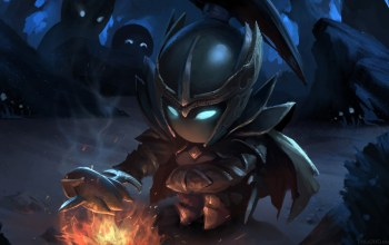 phantom assassin,костёр,chibi