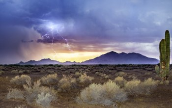sandstorm,monsoon sunset,lightning,Arizona