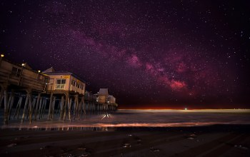 old orchard beach,United states,maine,ночь