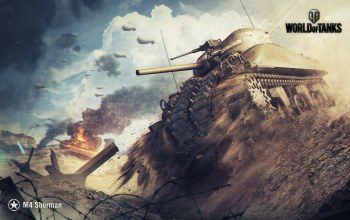 пыль,wg,wargaming net,World of tanks,пламя,wot,m4 sherman,мир танков