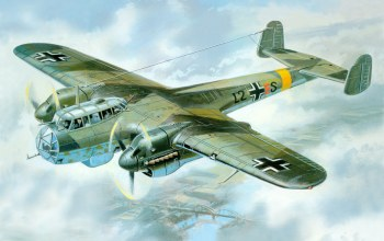 ww2,painting,drawing,german aircraft,Do-215b-4,aviation art,war