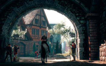 Gate to the city,the witcher-3:wild hunt,ведьмак