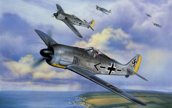aviation,war,german fighter,Fw 190,painting,ww2
