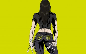 Люди икс,laura kinney,comics,yellow,x-23,когти