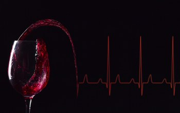 glass of wine,Electrocardiogram,lines,wine