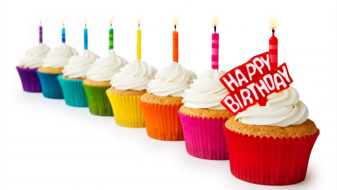 candles,happy birthday,выпечка,colorful,Cupcakes,кексы