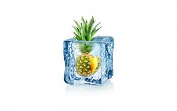 ice,куб,cube,воды,льда,ананас,pineapple,fruit,Frozen,капли