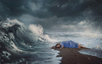wave,Magic,волшебство,girl,dream,sand