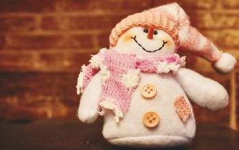 Snowman,Hat,buttons,toy,снеговик,winter,stuffed animal,scarf