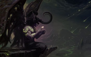 иллидан ярость бури,illidan stormrage,ночь,wow,world of warcraft