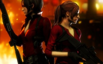 capcom,claire redfield,Ada wong,девушки,Resident evil