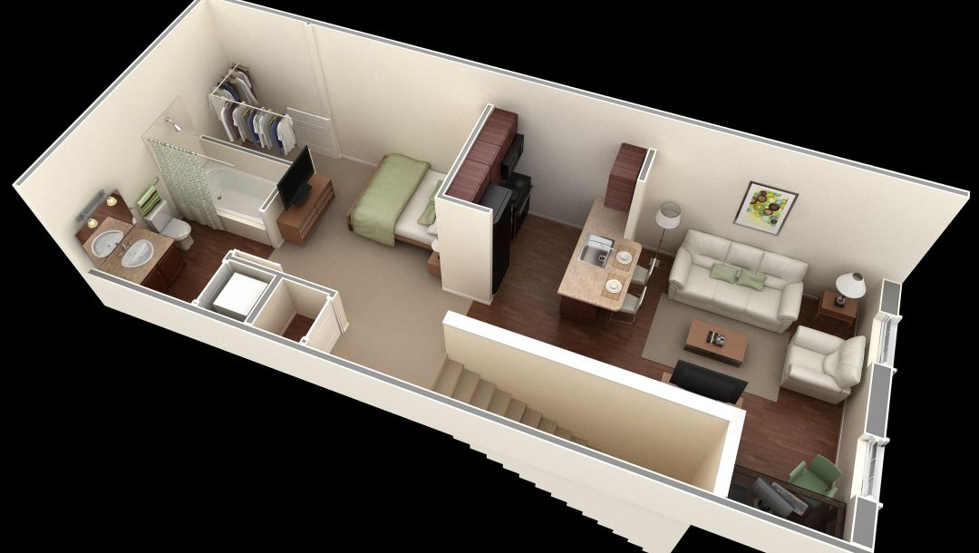 house,stairs,second floor,room