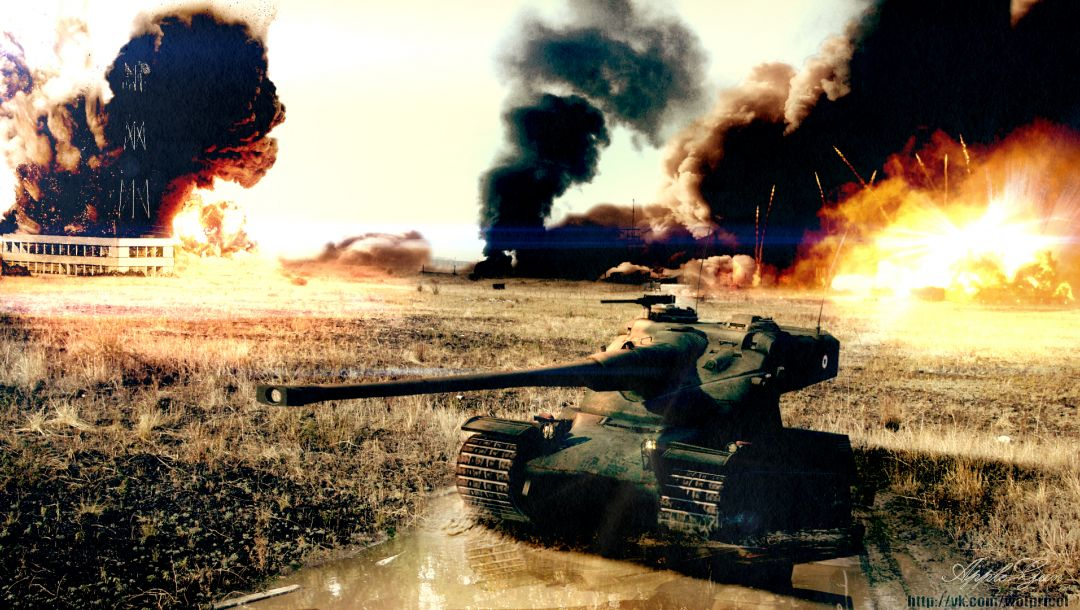 взрывы,amx-50b,World of tanks,wot