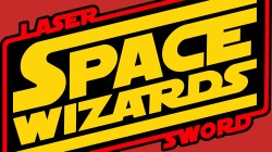 Space wizards,Red,yellow,logo