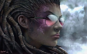 очки,Starcraft 2, sarah kerrigan,queen of blades