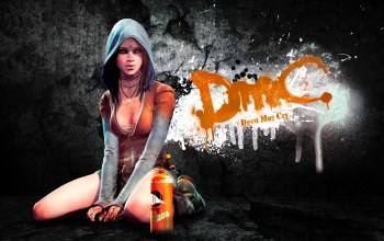Devil may cry,game,dmc,background,graffiti,girl