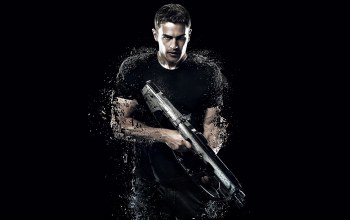 theo james,The divergent series,gun,actor,four,divergent 2,weapon,film,pose