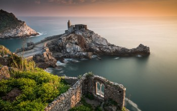 Church of st peter,liguria,ligurian sea,italy