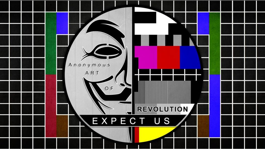 anonymous art,test pattern,revolution,expect us,Anonymous