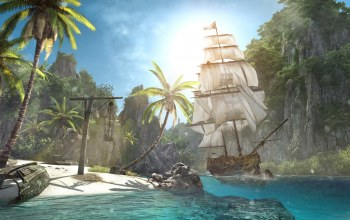Assassins creed iv: black flag,корабль,остров
