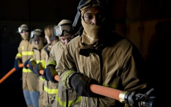 hoses,helmets,Fire protective clothing