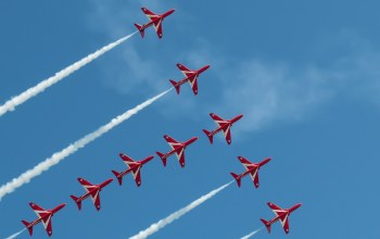 Red arrows,sky,eastbourne airshow