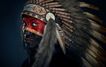 Apache,Painted face,colour
