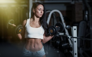 gym,dumbbells