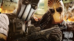 soldiers,Skull,weapon,rifle,game,the devils cartel,wallpaper,mask,Shotgun,war,Army of two