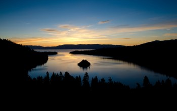 california,emerald bay,Lake tahoe,озеро тахо,sunrise,сша,утро