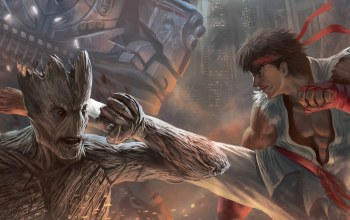 guardians of the galaxy,groot,ryu