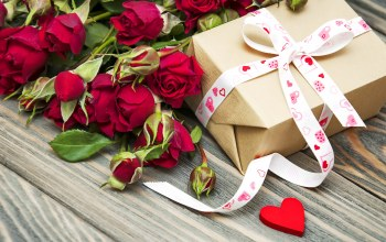 gift,Valentines day,roses,heart,подарок