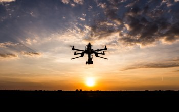 Drone,Sunset,clouds
