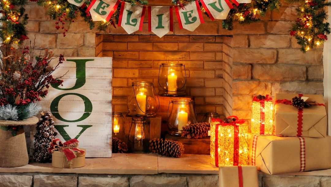 holiday,merry christmas,fireplace,Happy new year,candles,gift
