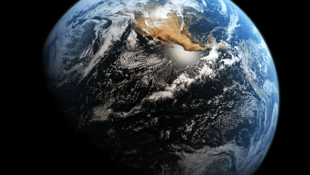 Planet earth,continent,space,clouds
